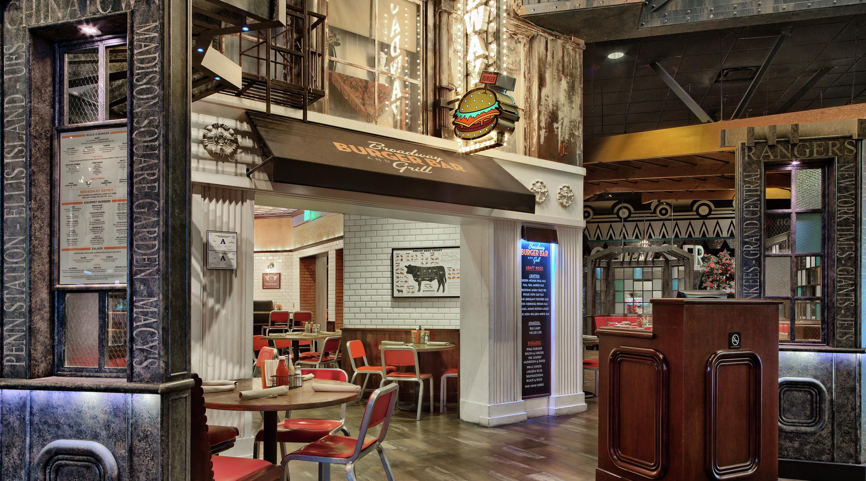 Burgers las vegas broadway burger bar and grill new york new york hotel casino - Restaurant bar and grill ...